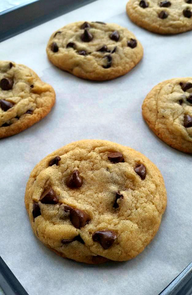 Soft Baked Chocolate Chip Cookies - For the Love of Baking